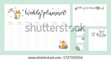 wish list template  weekly