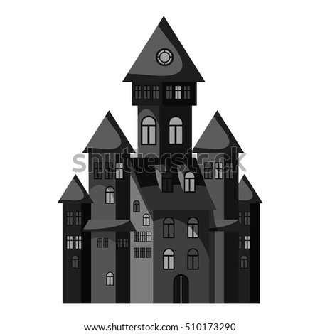 witch castle icon gray