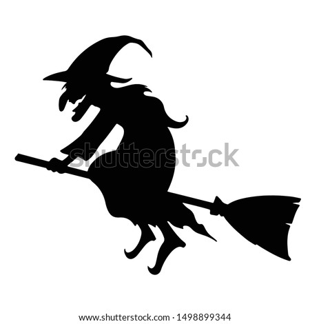 witch character silhouette. vector format. ストックフォト ©