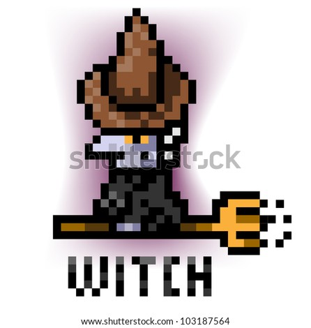 Witch flying in sweeps