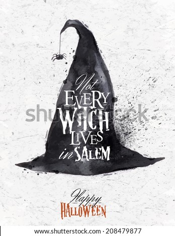 witch hat halloween poster