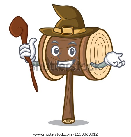 witch mallet mascot cartoon