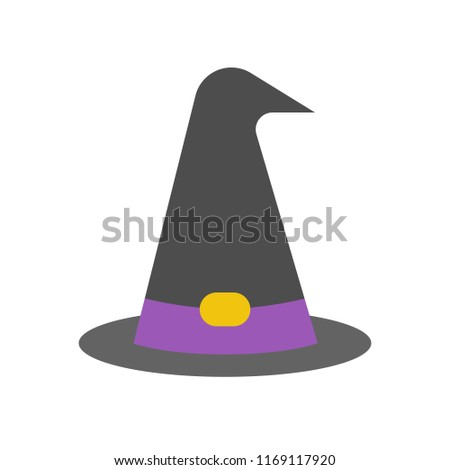 witch or wizard hat, Halloween related icon
