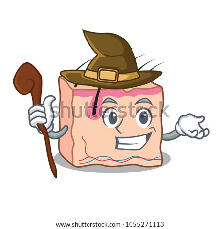 witch skin mascot cartoon style
