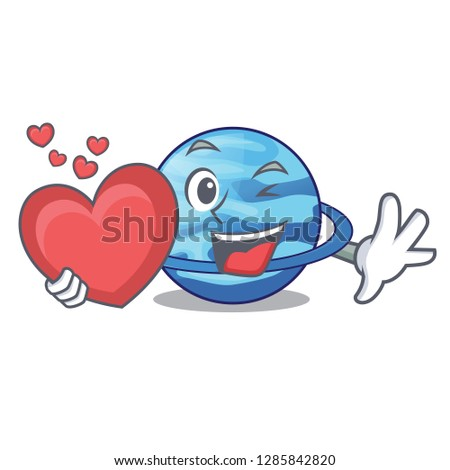 With heart planet uranus in the cartoon form