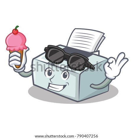 with ice cream printer