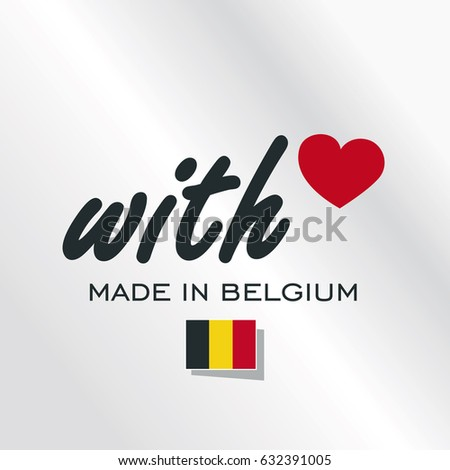 with love made in belgium logo