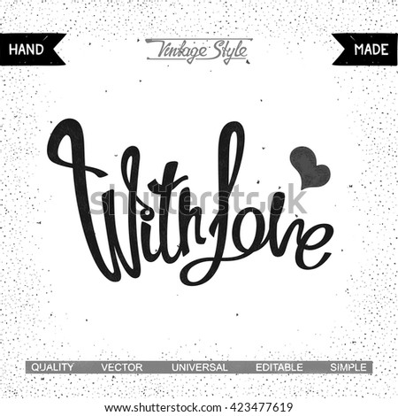 with love vintage vector
