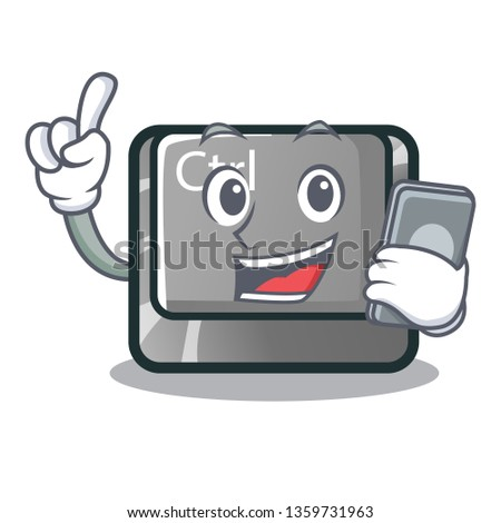 With phone ctrl button in the cartoon shape