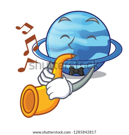 With trumpet planet uranus in the cartoon form