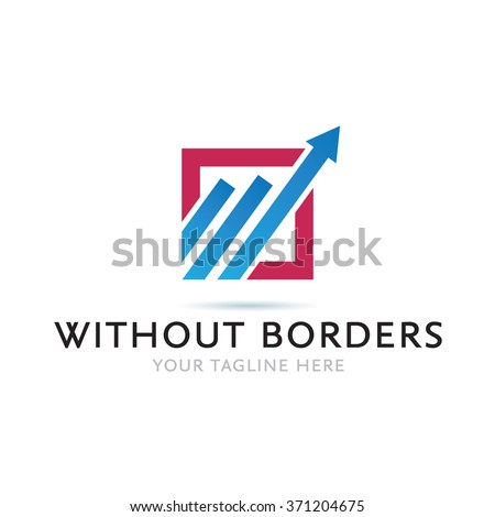Without Borders Logo Icon Elements Template #371204675