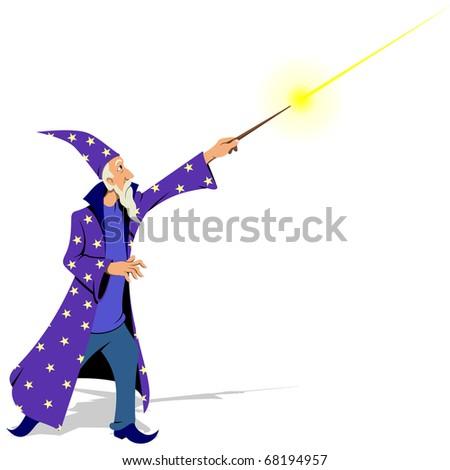 Wizard - stock vector