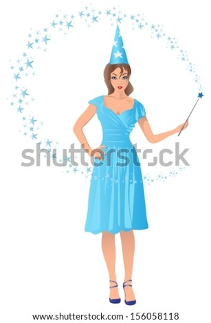 wizard girl holding a magic