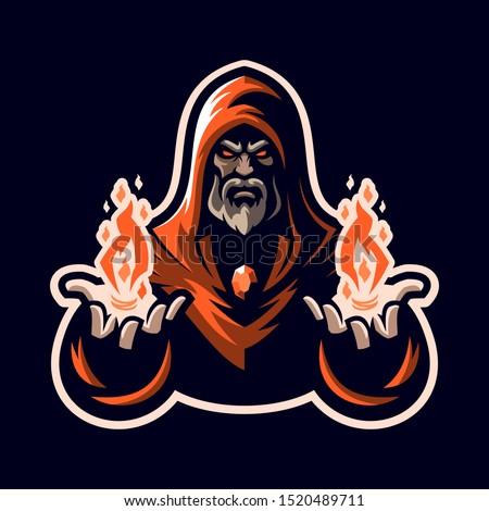 Wizard / Mage eSports Mascot Logo for Team, Personal, Community, or Club Logo Сток-фото ©