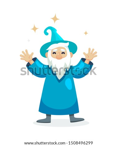 wizard male character  mage  a