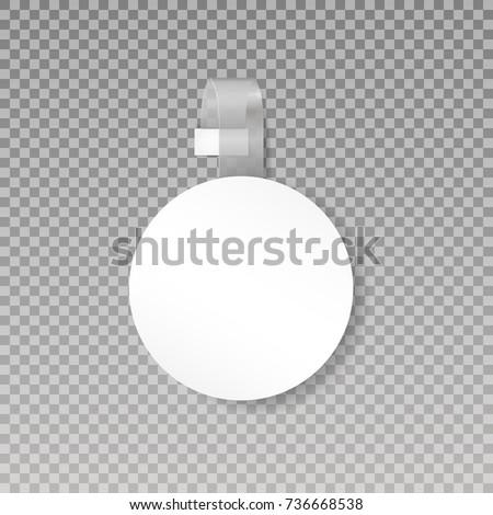 wobbler or sales point tag mock
