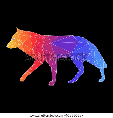 wolf abstract wolf wolf icon