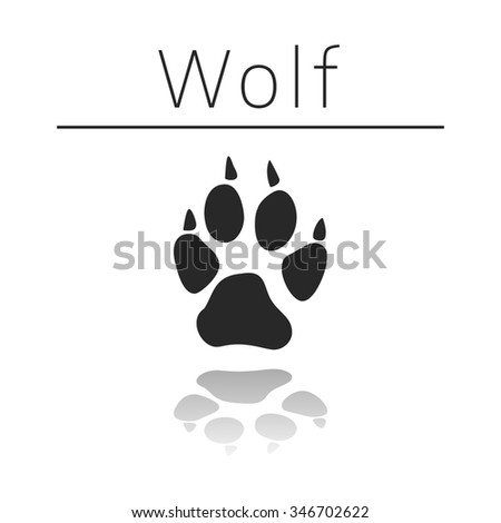 wolf animal track with name