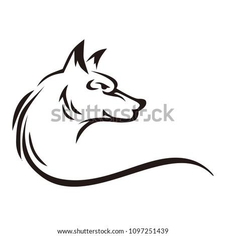 wolf animals vector logo