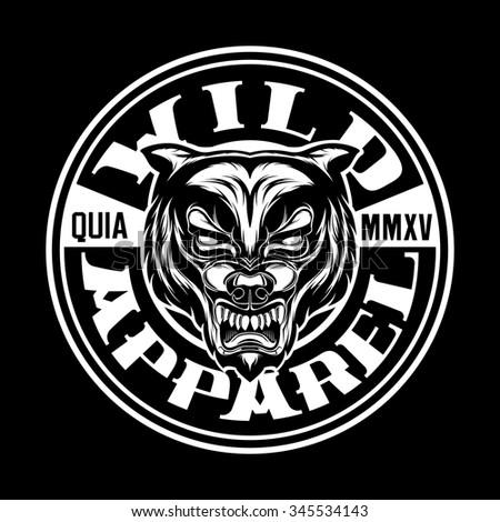 wolf beast t shirt design print