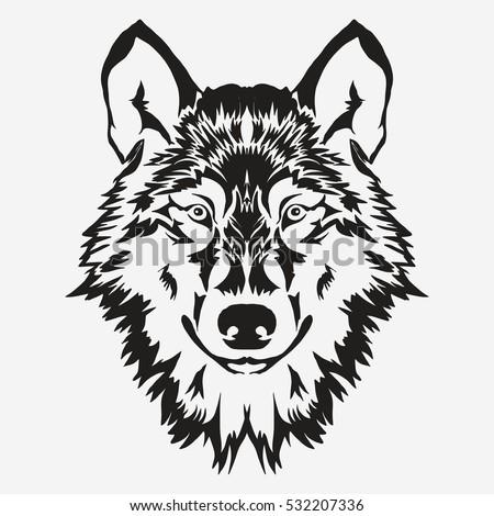 wolf bolt emblem  mascot head
