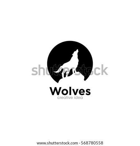 wolf creative concept logo