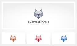 Wolf Dog Fox Polygon Mesh Logo
