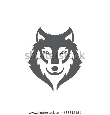 wolf face vector design