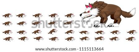 wolf game sprites