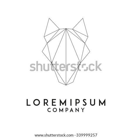 wolf head emblem template for