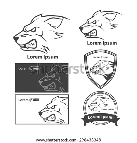 wolf head for logo  american