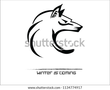 Wolf Head Illustration inspired by Winter is coming