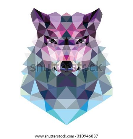wolf head illustration vector