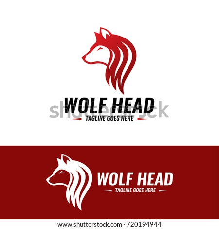 wolf head logo design template vector illustration ez canvas