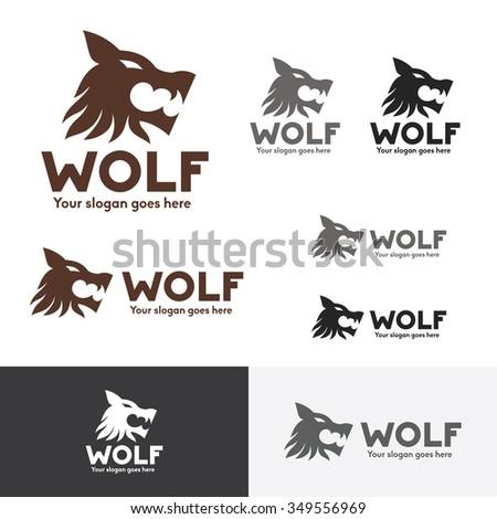 wolf head logo  wolf brand