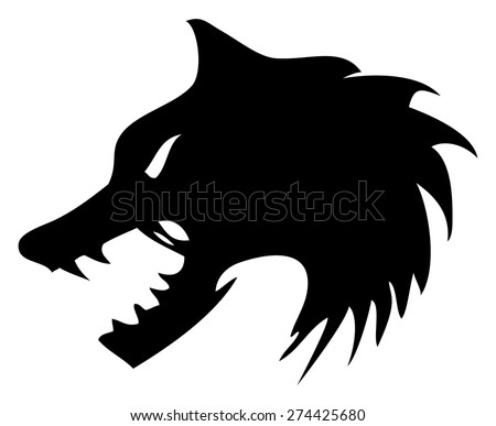 angry wolf head graphics - download free vector art, stock