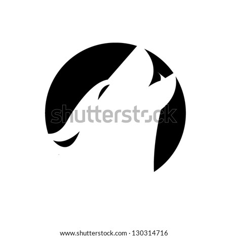 wolf head sign silhouette
