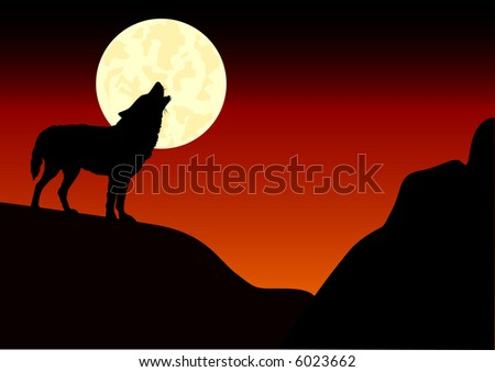 wolf howlin at the moon