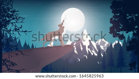 wolf howls at the moon howling