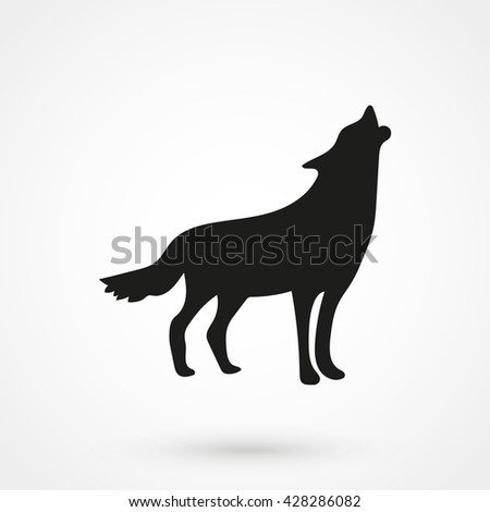 wolf icon isolated on