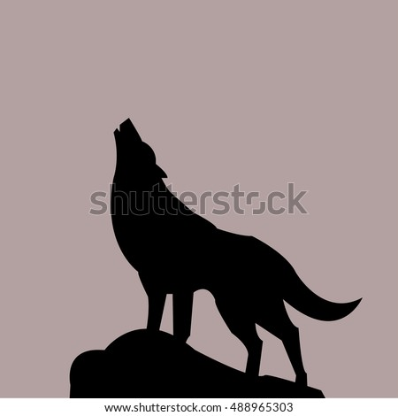 wolf icon - vector illustrator