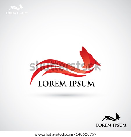 Wolf label vector illustration