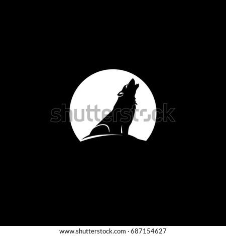 wolf logo at the moon