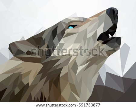 wolf  low poly