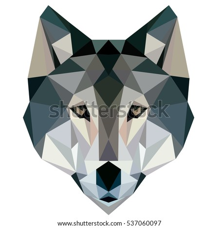 wolf low poly  design geometric