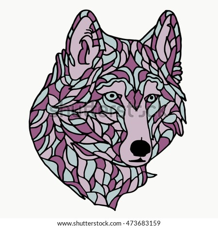 wolf on white background wolf