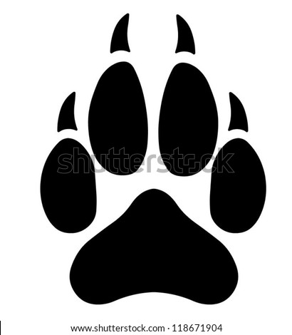 Wolf Paw Stock Vector Native American Wolf Paw