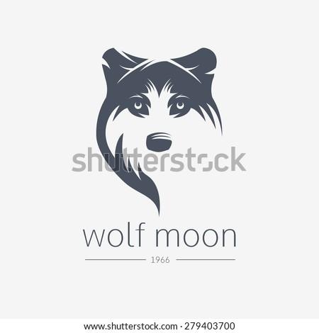 wolf  silhouette vintage wolf