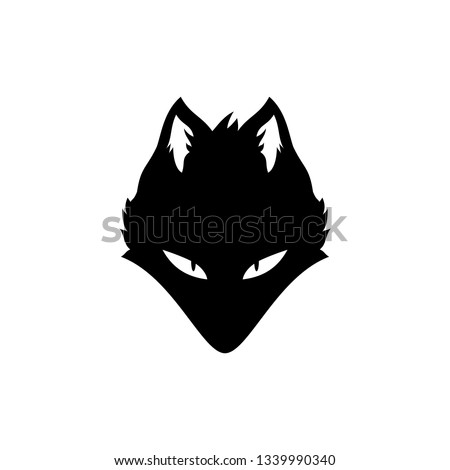 wolf silhouette with angry