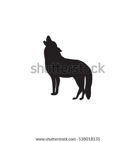 wolf sketch isolated on white background element for design vector